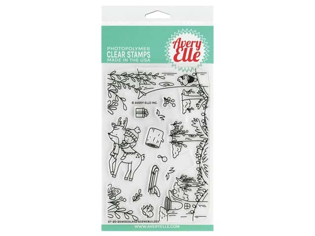 Avery Elle Clear Stamp Woodland Scene Builder