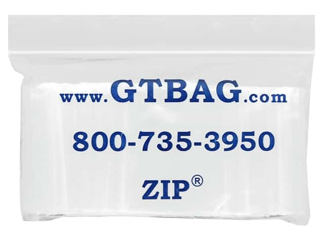 "G.T.Zip Bags Plain 2mil Acid Free 100pc 2""x 1.5"""