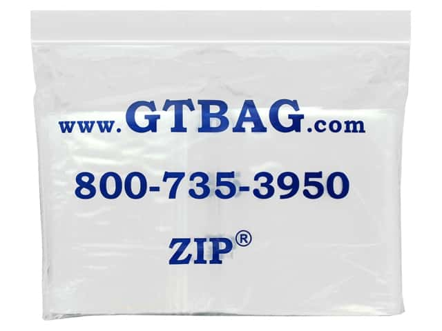 "G.T.Zip Bags Plain 2mil Acid Free 100pc 4""x 5"""