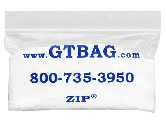 "G.T.Zip Bags Plain 2mil Acid Free 100pc 1.75""x 1.75"""