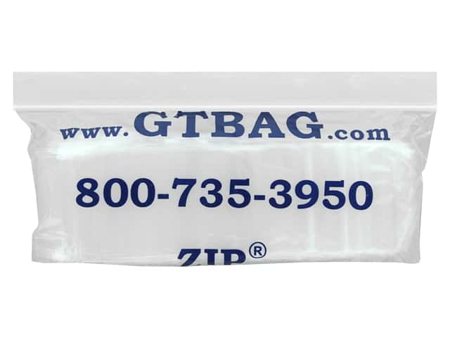 GTZIP Plain 2 Mil Zip Bags 2 x 4 in. Clear 100 pc.