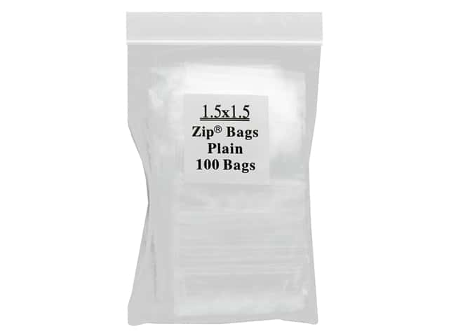 GTZIP Plain 2 Mil Zip Bags 1 1/2 x 1 1/2 in. Clear 100 pc.