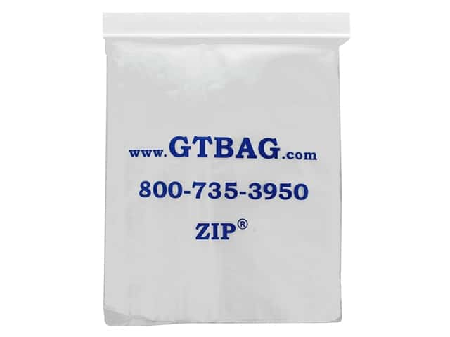 GTZIP Plain 2 Mil Zip Bags 9 x 12 in. Clear 100 pc.