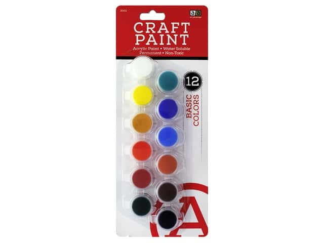 Art Advantage Paint Set Acrylic Paint Pot Basic 12 pc