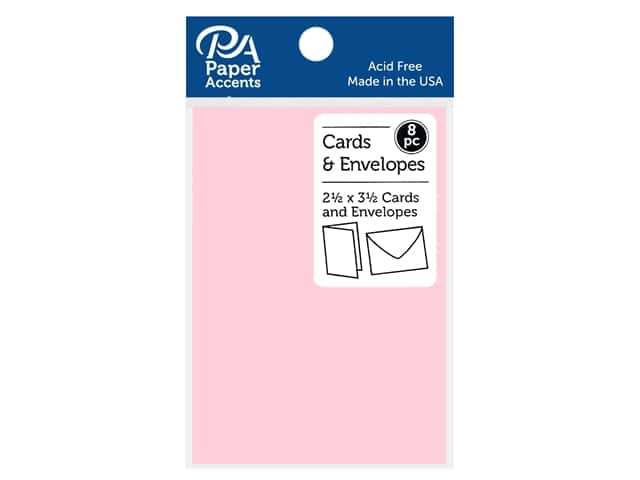 Paper Accents Blank Card & Envelopes - 2 1/2 x 3 1/2 in. - Tickled Pick 8 pc.