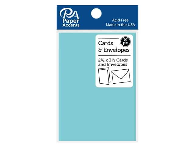 Paper Accents Blank Card & Envelopes - 2 1/2 x 3 1/2 in. - Mediterranean 8 pc.