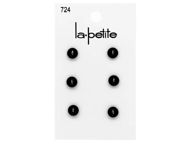 LaPetite 2 Hole Buttons 1/4 in. #724 Black 6 pc.