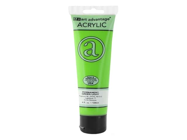 Art Advantage Acrylic Paint 4 oz. Permanent Green Light