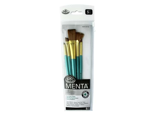Royal Brush Set Menta Synthetic Sable Acrylic Variety 5pc
