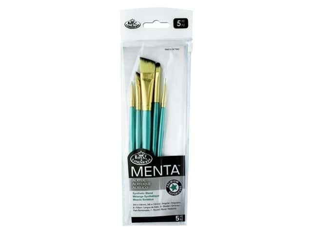 Royal Brush Set Menta Synthetic Blend Acrylic Variety 5pc