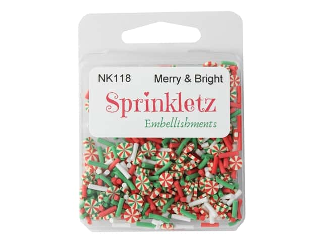 Buttons Galore Sprinkletz - Merry & Bright
