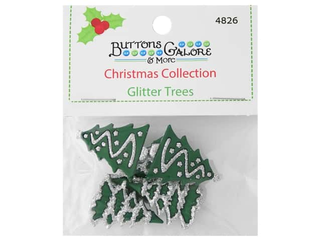 Buttons Galore Theme Button Christmas Collection Glitter Trees