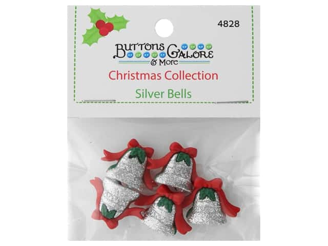 Buttons Galore Theme Button Christmas Collection Silver Bells