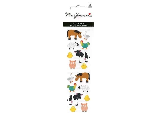 Mrs Grossman's Stickers - Chubby Farm Animals