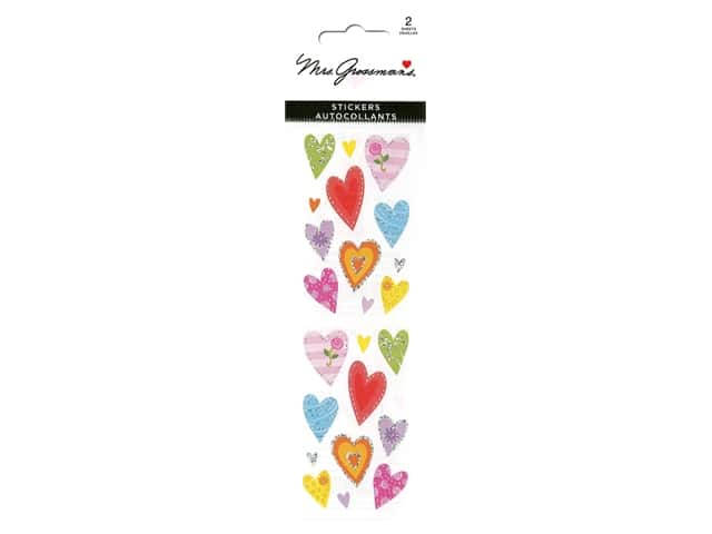 Mrs Grossman's Stickers - Reflections Delightful Hearts
