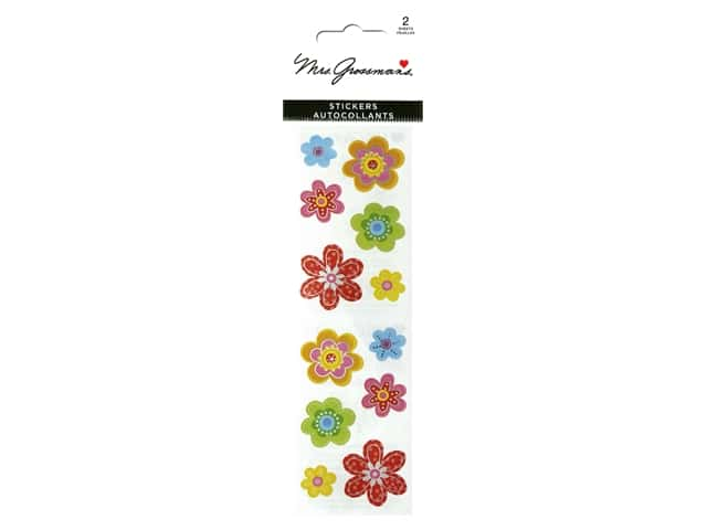 Mrs Grossman's Stickers - Reflections Delightful Flowers