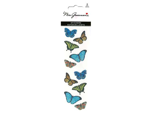 Mrs Grossman's Stickers - Sparkle Butterflies