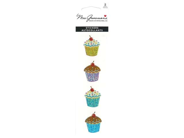 Mrs Grossman's Stickers - Sparkle Delightful Cupcakes