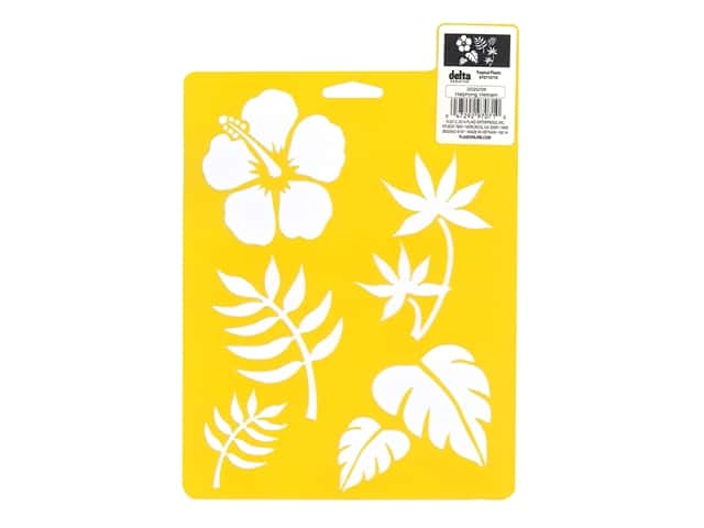 Delta Stencil Mania 7 x 10 in. Tropical Plants