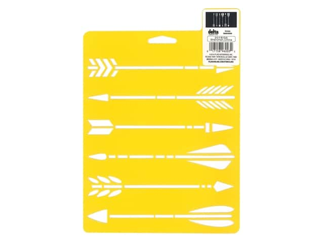 Delta Creative Stencil 7 x 10 in. Arrows