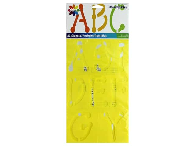 Delta Alphabet Stencil 3 1/2 in. Uppercase Dot
