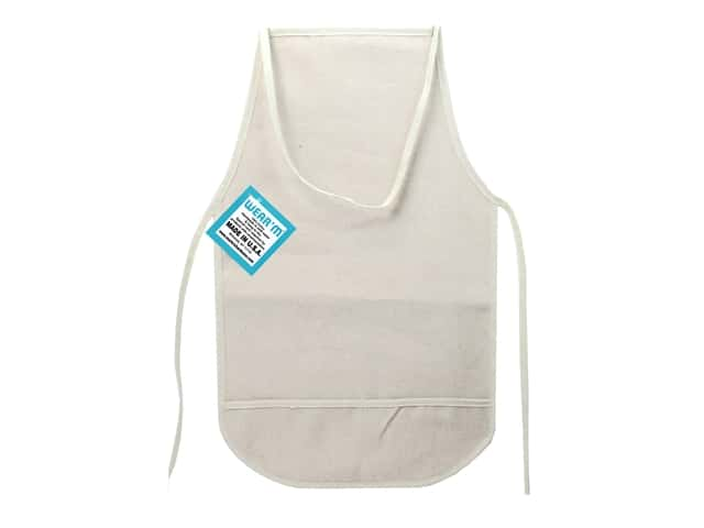 Mark Richards Canvas Child Apron with Pockets 12 x 19 in. Natural