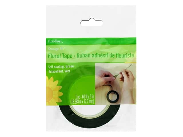FloraCraft Floral Tape 1/2 in. x 60 ft. Green