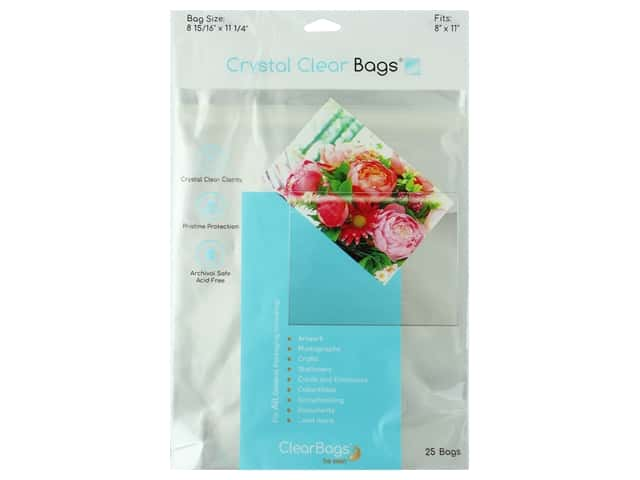 ClearBags Crystal Clear Bag 8 1/2 x 11 in. Photo 25 pc.
