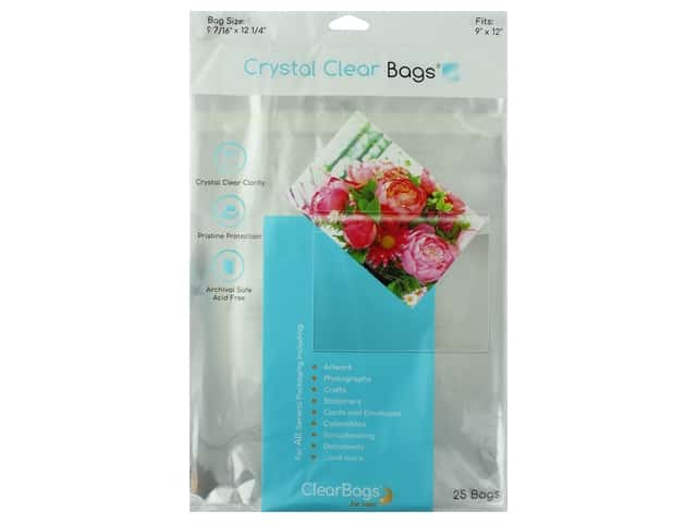 ClearBags Crystal Clear Bag 9 x 12 in. Photo 25 pc.