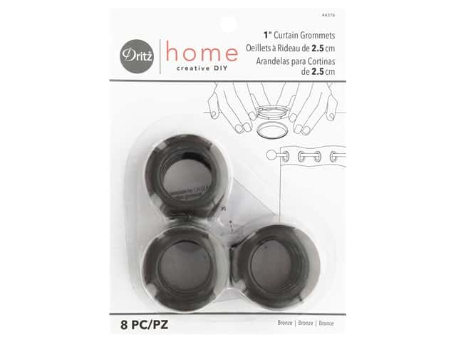 Dritz Home Curtain Grommets 1 in. Round Bronze 8 pc.