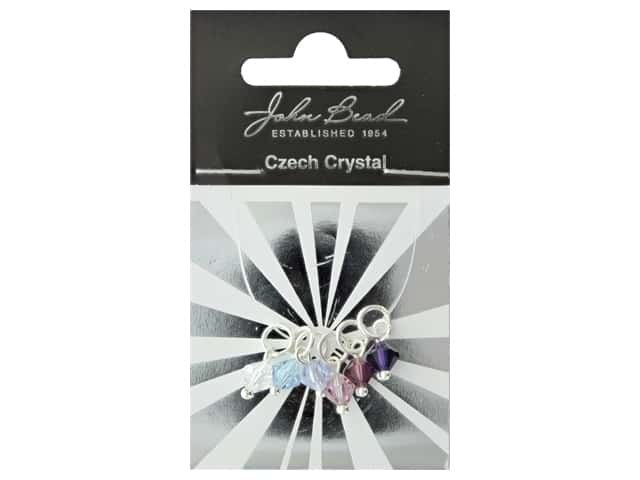 John Bead Czech Bicone Charms 6mm Passion Fruit