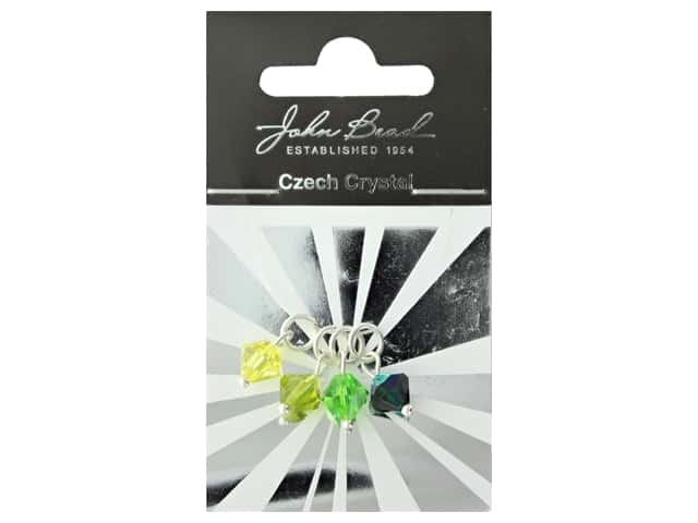 John Bead Czech Bicone Charms 8mm Citrus Breeze