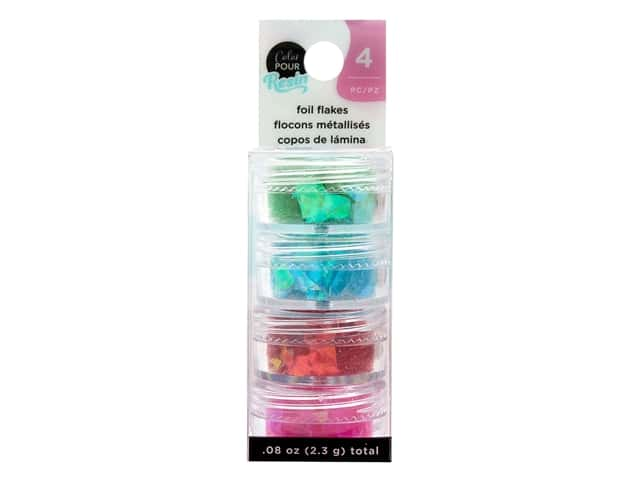 American Crafts Color Pour Mix In Foil Flakes Primary