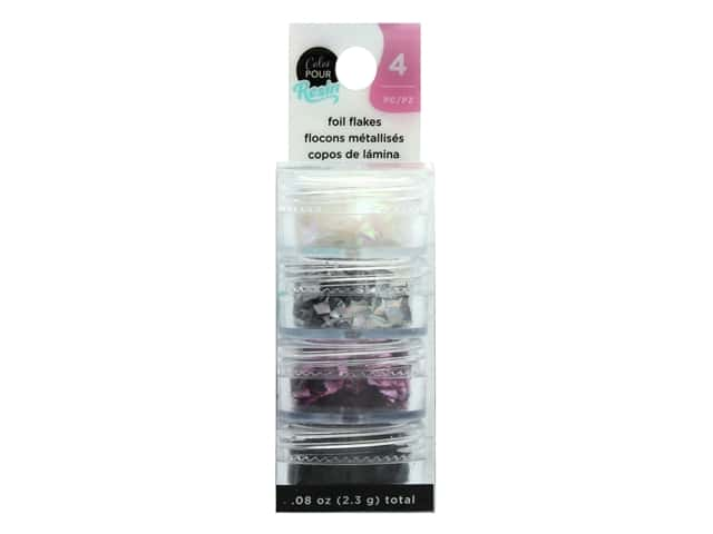 American Crafts Color Pour Mix In Foil Flakes Holographic