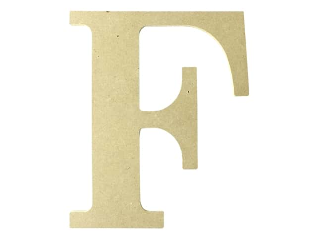 "MPI Marketing Wood Letter 9.5"" MDF F"