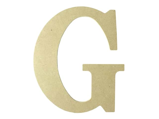 "MPI Marketing Wood Letter 9.5"" MDF G"