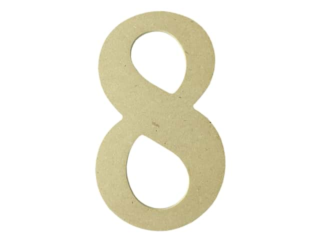 "MPI Marketing Wood Letter 9.5"" MDF No 8"