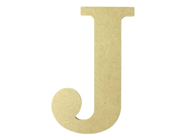 "MPI Marketing Wood Letter 9.5"" MDF J"