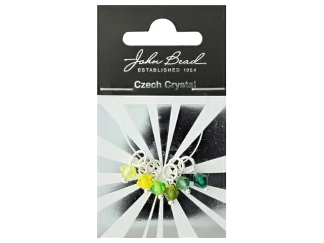 John Bead Czech Bicone Charms 6mm Citrus Breeze
