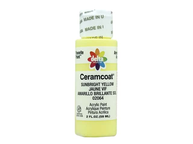 Delta Ceramcoat Acrylic Paint - #2064 Sunbright Yellow 2 oz.
