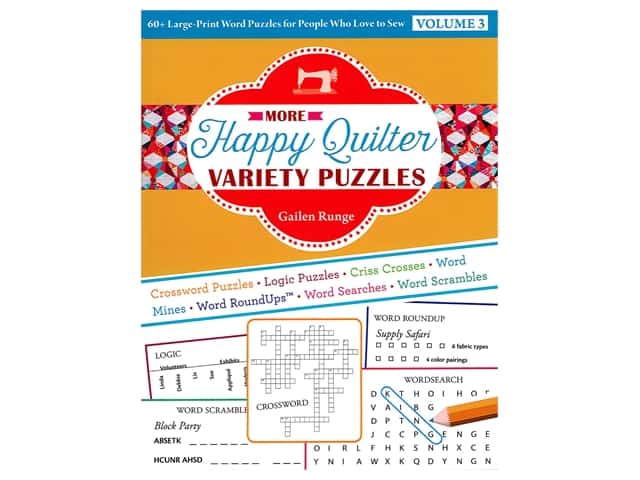 C&T Publishing More Happy Quilter Variety Puzzles Volume 3 Book