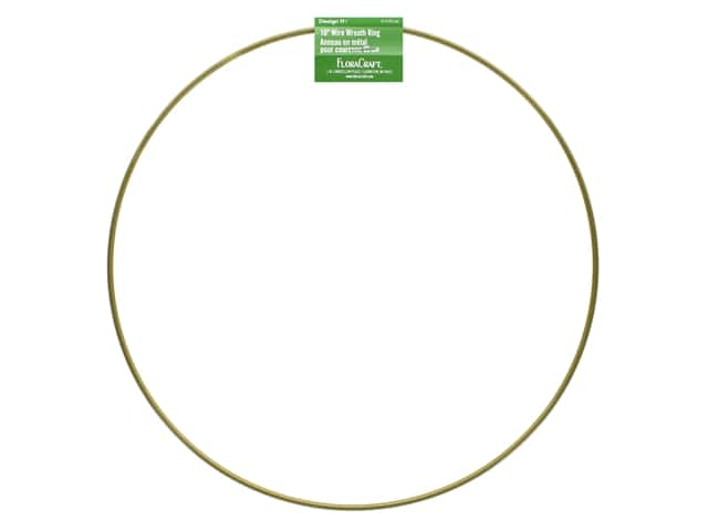 FloraCraft Wire Wreath Ring 10 in. Gold