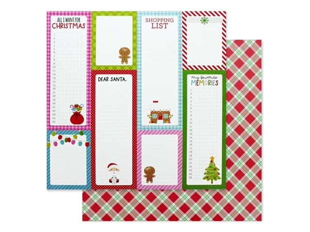 Doodlebug Night Before Christmas Paper 12 in. x 12 in. Santa Stocking