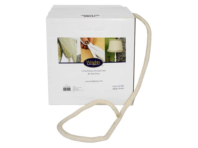 Wrights Cotton Piping Cord 1/2 in. x 100 yd. Natural