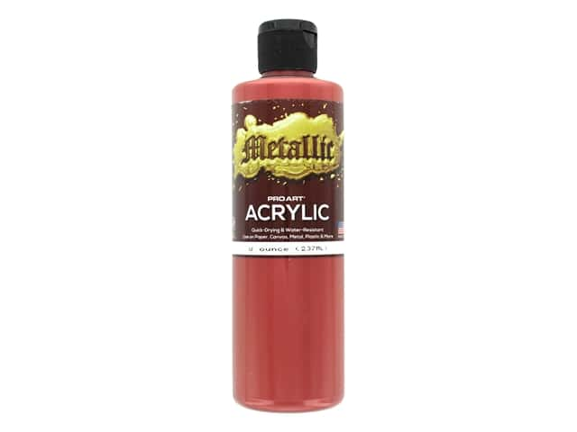 Pro Art Metallic Acrylic Paint 8 oz. Red Gold