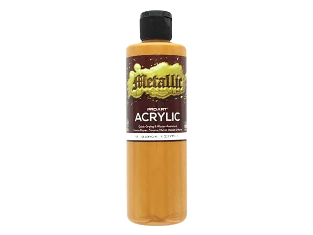 Pro Art Metallic Acrylic Paint 8 oz. Dark Gold