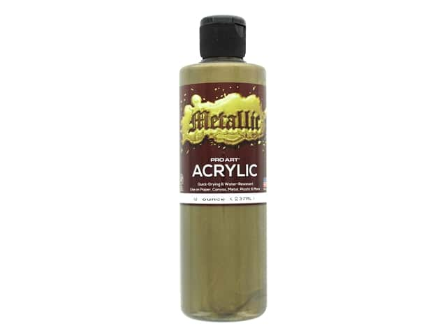 Pro Art Metallic Acrylic Paint 8 oz. Bronze