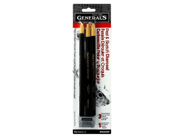 General's Drawing Pencil Set Peel & Sketch Charcoal