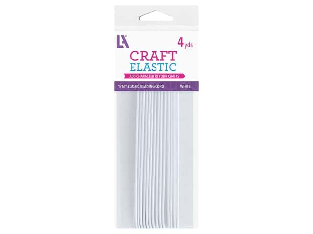 Leisure Arts Elastic Beading Cord - 1/16 in. x 4 yd. White