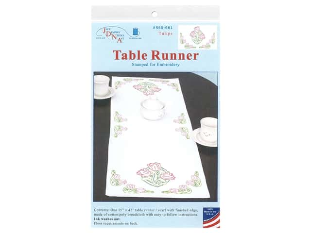 Jack Dempsey Table Runner/Scarf - Tulips